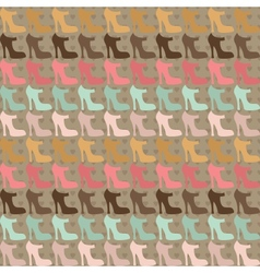 Seamless pattern with shoes in retro style vector image