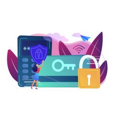 security access card concept vector image