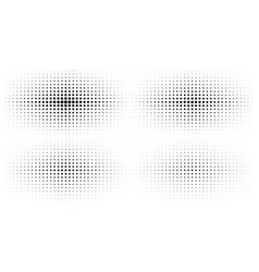 set halftone gradient background textures vector image