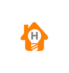 smart home initial h vector image