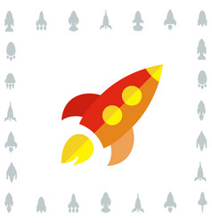 space rocket icon or startup symbol vector image