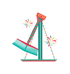 spinning carnival ride decorated with bunting vector image