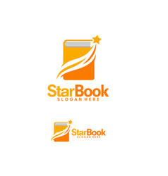 star book logo designs template space learn logo vector image