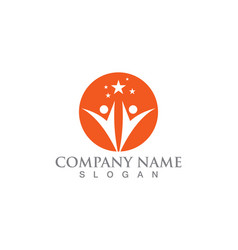 star people logo success template icon design vector image