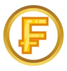 Swiss frank icon vector