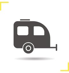 Trailer icon vector image