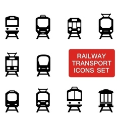Train set with red signboard vector