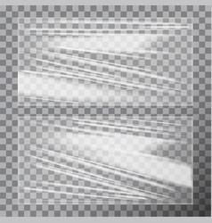transparent glossy polyethylene plastic warp vector image