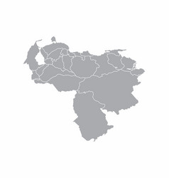 venezuela provinces map vector image