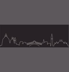 venice single line simple minimalist skyline vector image