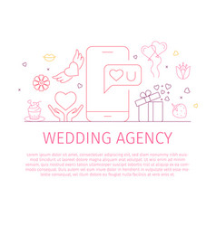wedding agency landing page template vector image