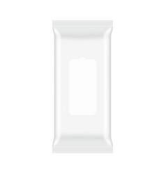 Wet wipes packaging mockup top view vector
