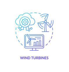 Wind turbines concept icon vector