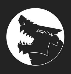 Wolf logo logo design on black vector