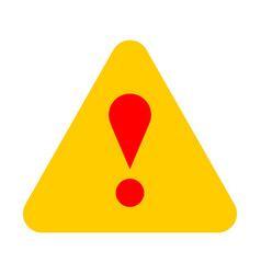 yellow triangle exclamation mark icon warning sign vector image