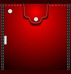 Red denim pocket vector image vector image