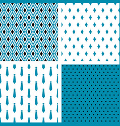 set of seamless male patterns vector image vector image