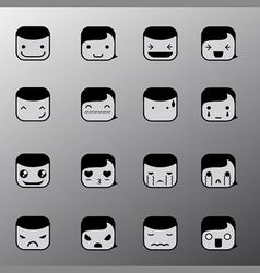 Simple emotion face symbols vector