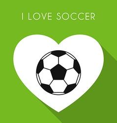 Green soccer background vector image