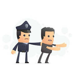 police catch a cheater vector image vector image
