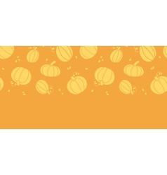 Thanksgiving golden pumpkins horizontal seamless vector image vector image