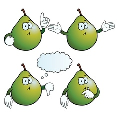 Thinking pear set vector image vector image