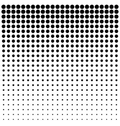Abstract Black Halftone Background vector image vector image