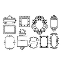 graphic design decorative frames vector image