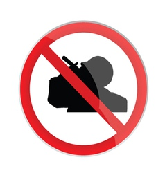 No smoking sign with man silhouette vector