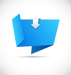 Origami blue wallpaper vector image