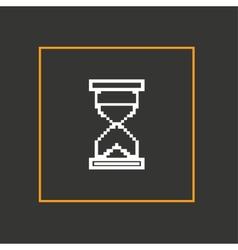 Simple stylish pixel icon hourglass design vector image vector image