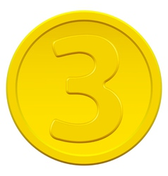 Three coin vector image vector image