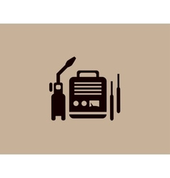 welding machine icon vector image