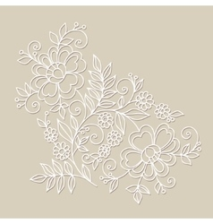 Flower design element Drawing flowers vector image vector image
