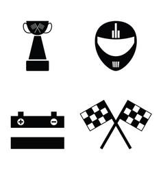 karting icon set vector image