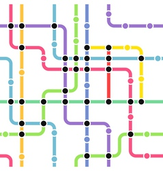 Metro Route Map vector image vector image