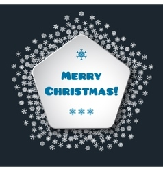 Scattered snowflakes under the retro frame vector image vector image
