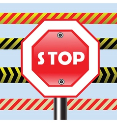 sign stop vector image vector image