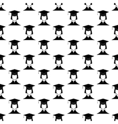 Student pattern seamless vector image