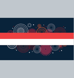 17 august indonesia happy independence day vector