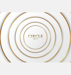 abstract background elegant modern white circle vector image