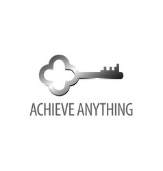 achieve anything shiny retro key icon logo vector image