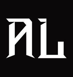 Al logo monogram with slice shape design template vector