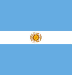 argentine flag icon in flat style national sign vector image