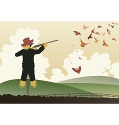 Armed scarecrow vector