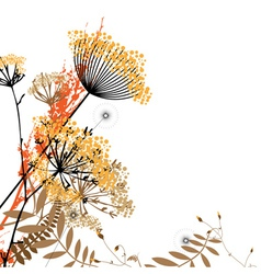 Arrangement wild flowers vector