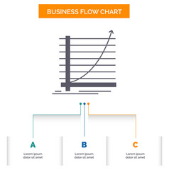 arrow chart curve experience goal business flow vector image