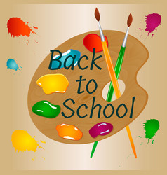 back to school background with bright palette vector image