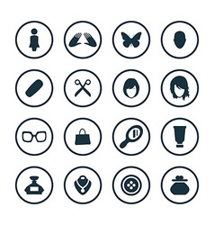 Beauty glamour icons universal set vector