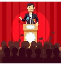Business leadership concept with speaker vector image